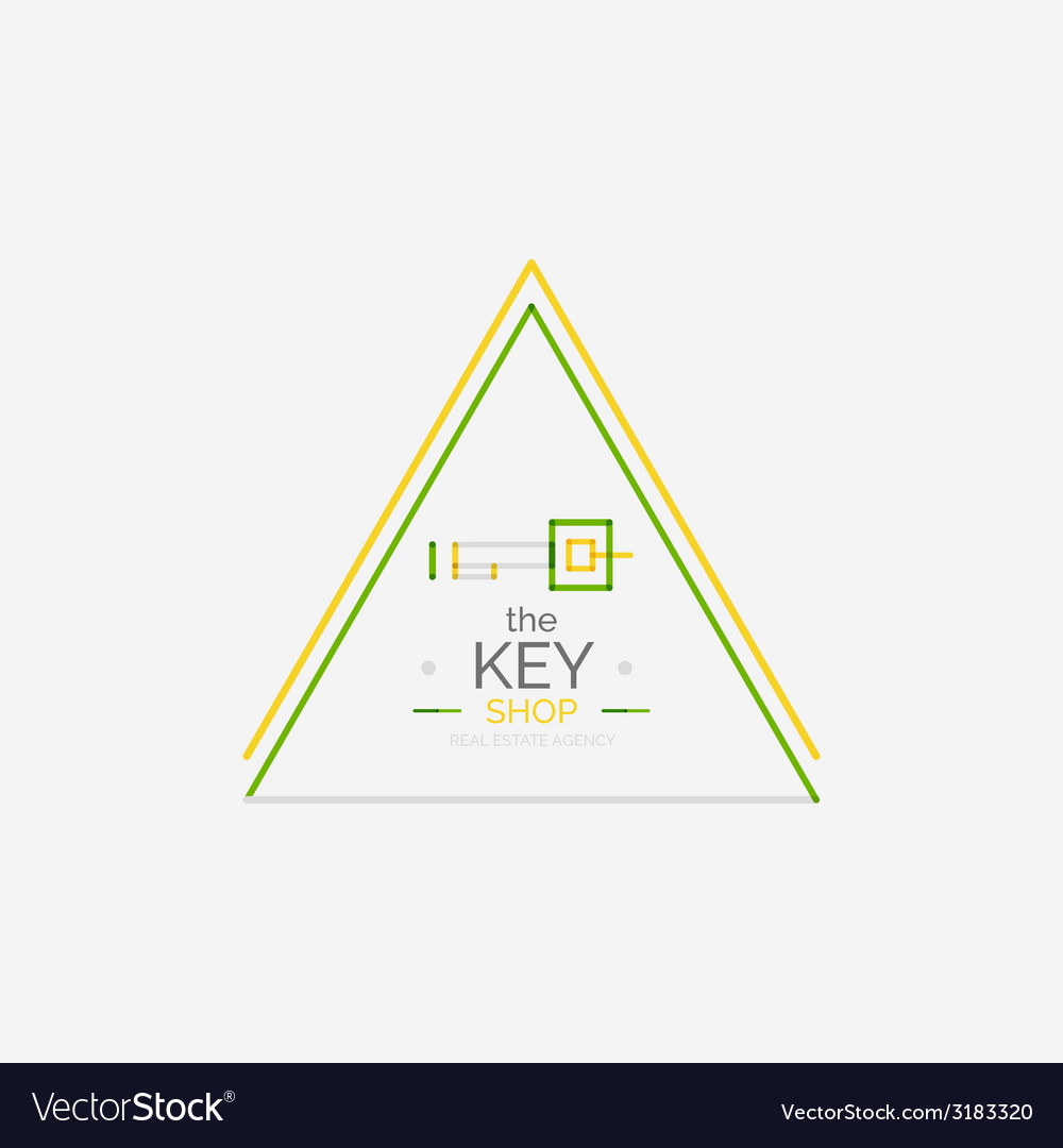 Minimal line design shopping stamps key