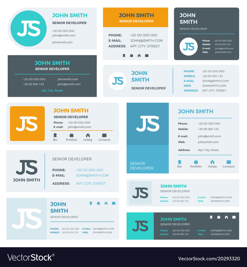 Modern email signature templates