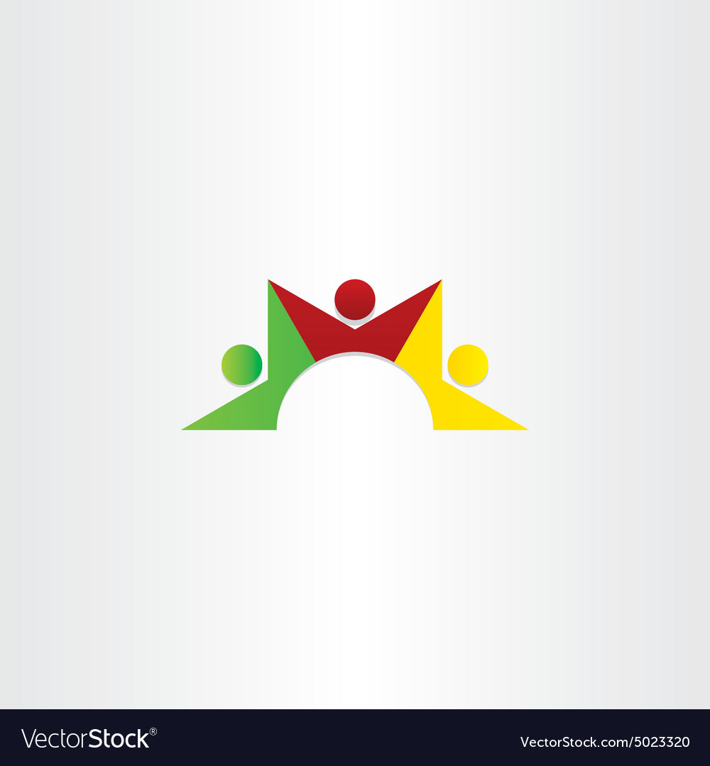 People dancing teamwork icon