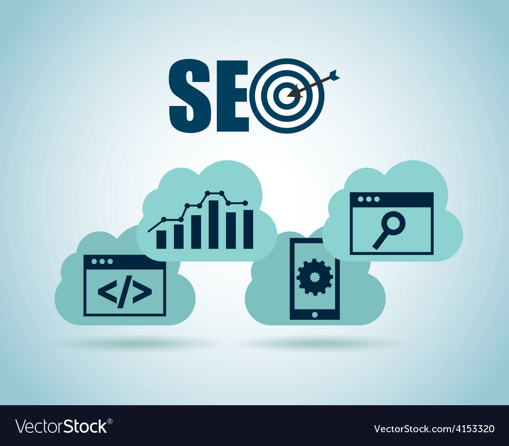 Seo technology vector image