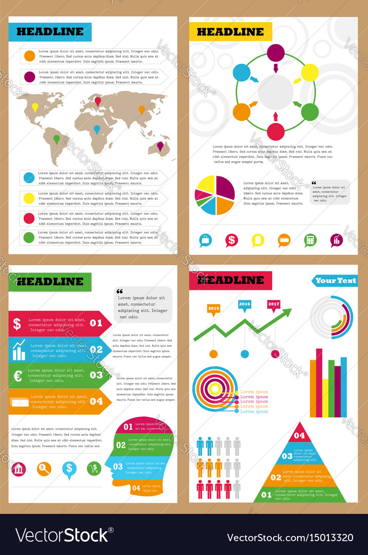 Set of infographic leaflets prospects can be vector image