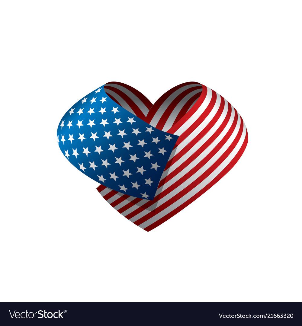 Usa flag isolated