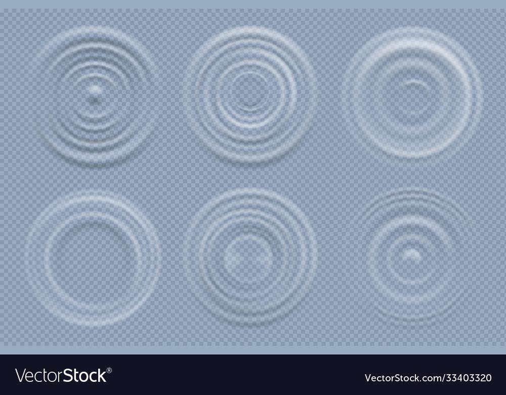 Water circles realistic round shapes liquids