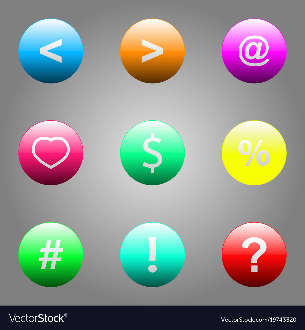 Web elements button set
