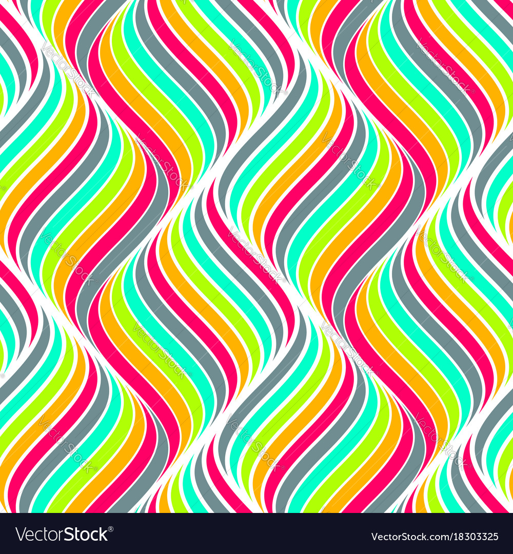 Colored seamless abstract pattern waves background