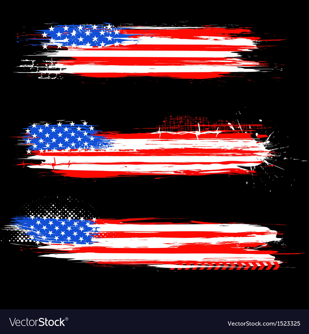 grungy american flag banner royalty free vector image