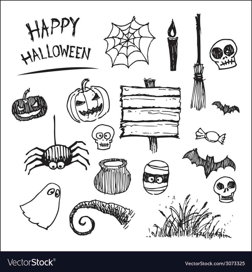 Halloween icon cartoon