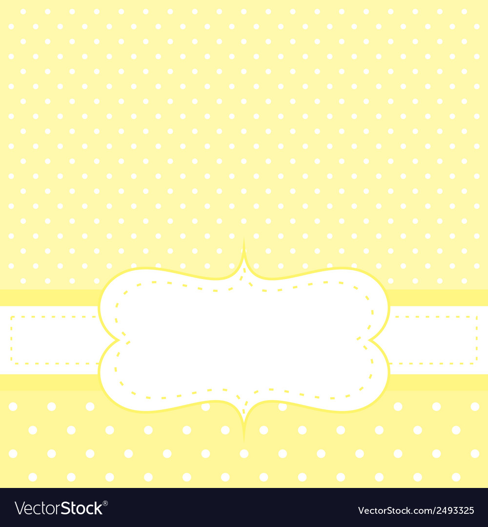 White dots on yellow background invitation vector image on vectorstock stopboris Image collections
