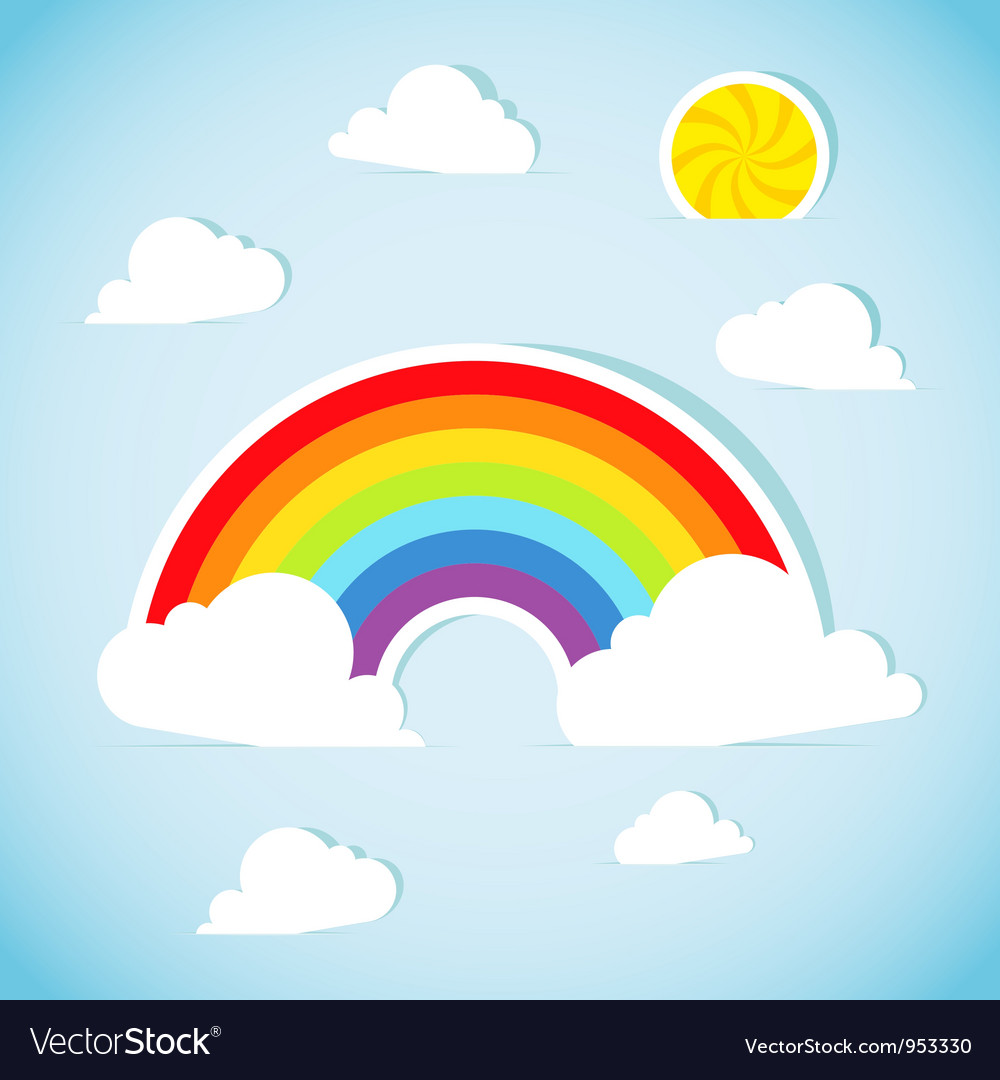 Abstract paper rainbow vector image
