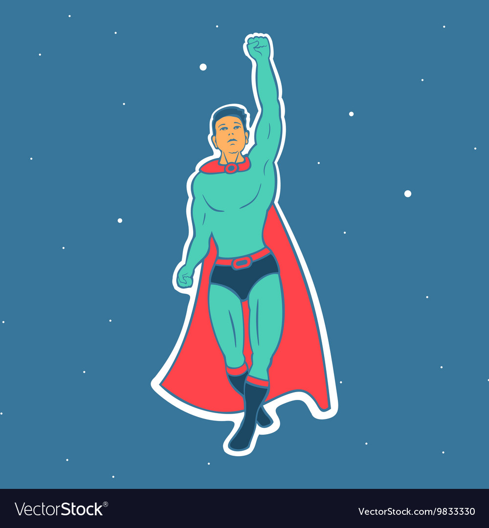 Fly Hero Man vector image