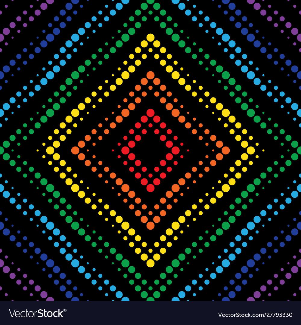 Geometric neon effect seamless pattern background