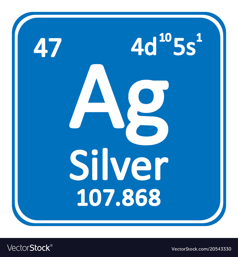 Silver Chemical Element Vector Images 65