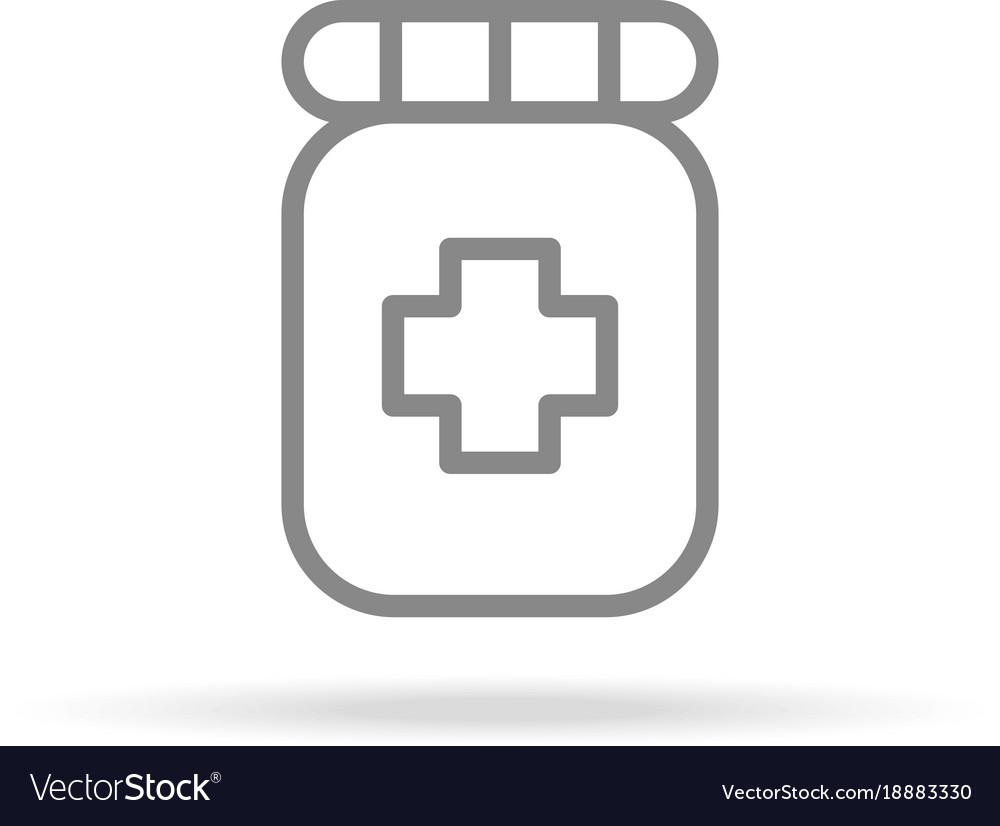 Pharmacy medicine icon in trendy thin line style