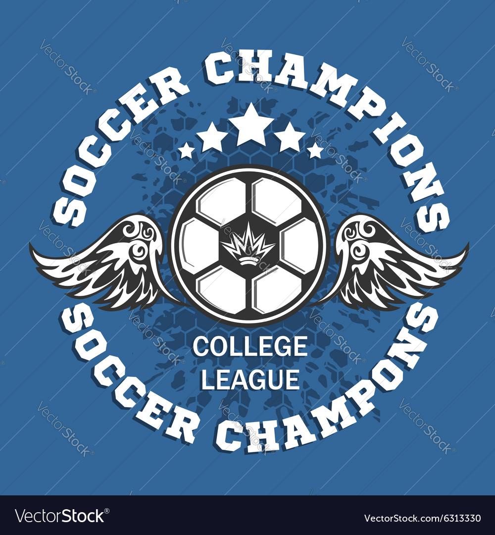 Soccer Badge - emblem on dark background