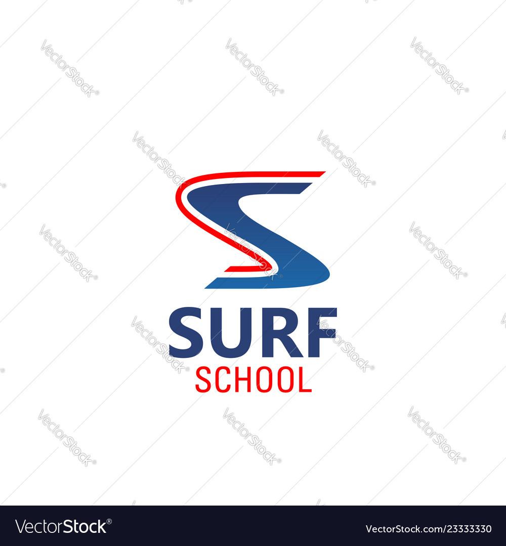 Surf school emblem