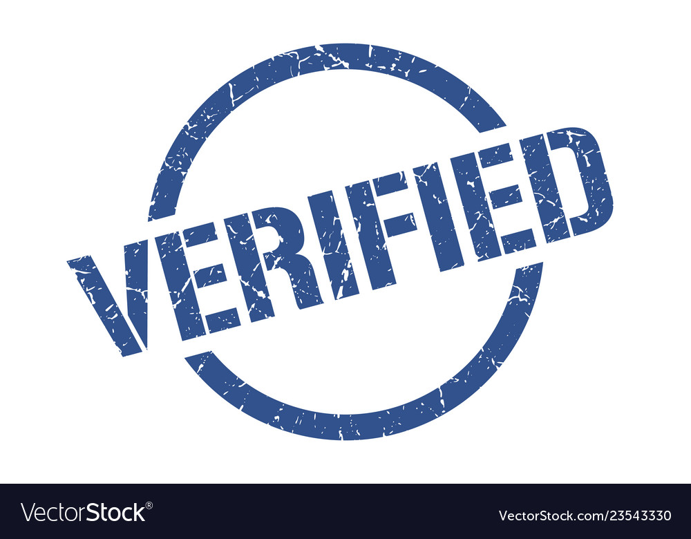 Verified stamp Vector Image