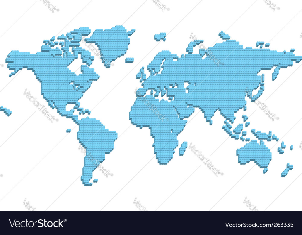 Abstract world map royalty free vector image vectorstock abstract world map vector image gumiabroncs Images