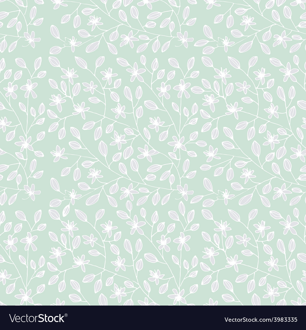 Background With Floral Pattern Royalty Free Vector Image