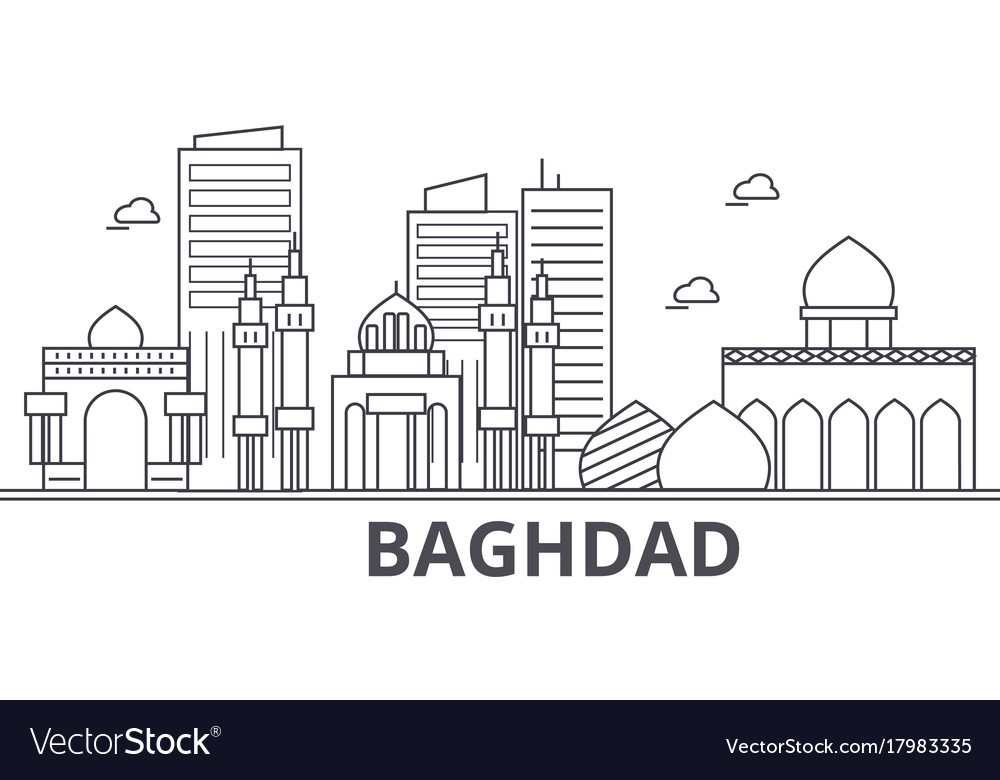 Baghdad architecture line skyline