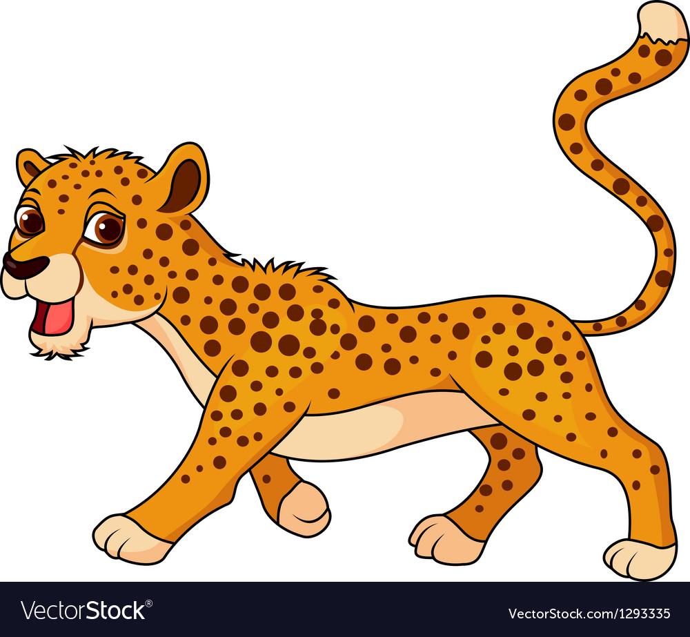 Cute Cheetah Cartoon Royalty Free Vector Image