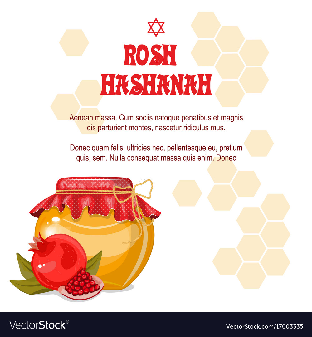 Greeting cards rosh hashanah jewish new year the vector image m4hsunfo