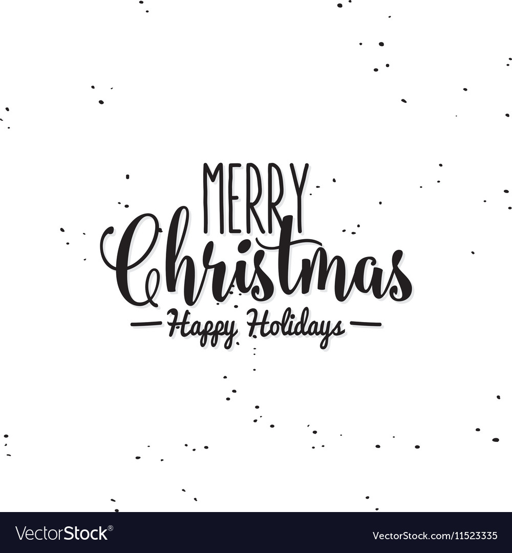 happy merry christmas royalty free vector image vectorstock