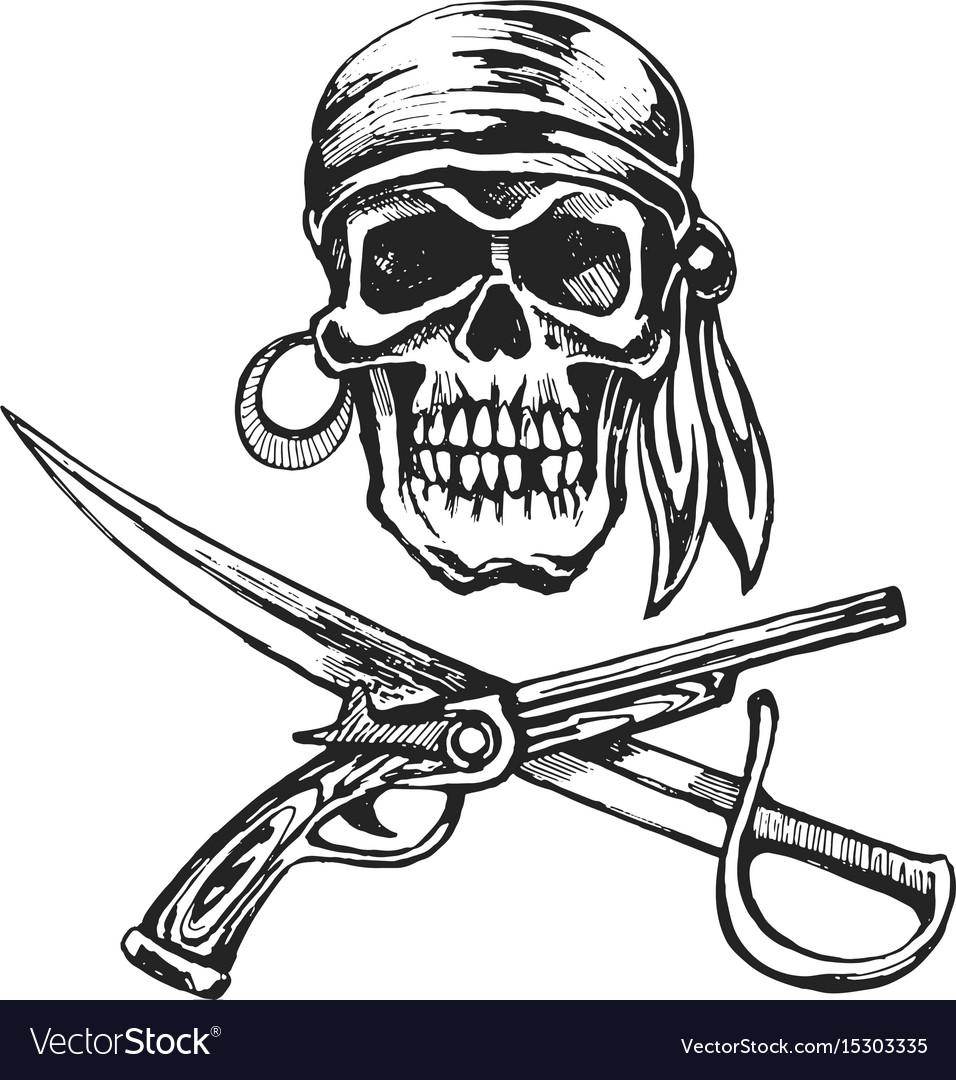 Pirate skull bandanna