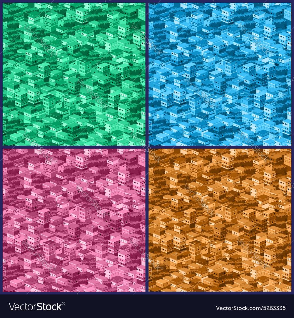 Stylized city pattern vector image
