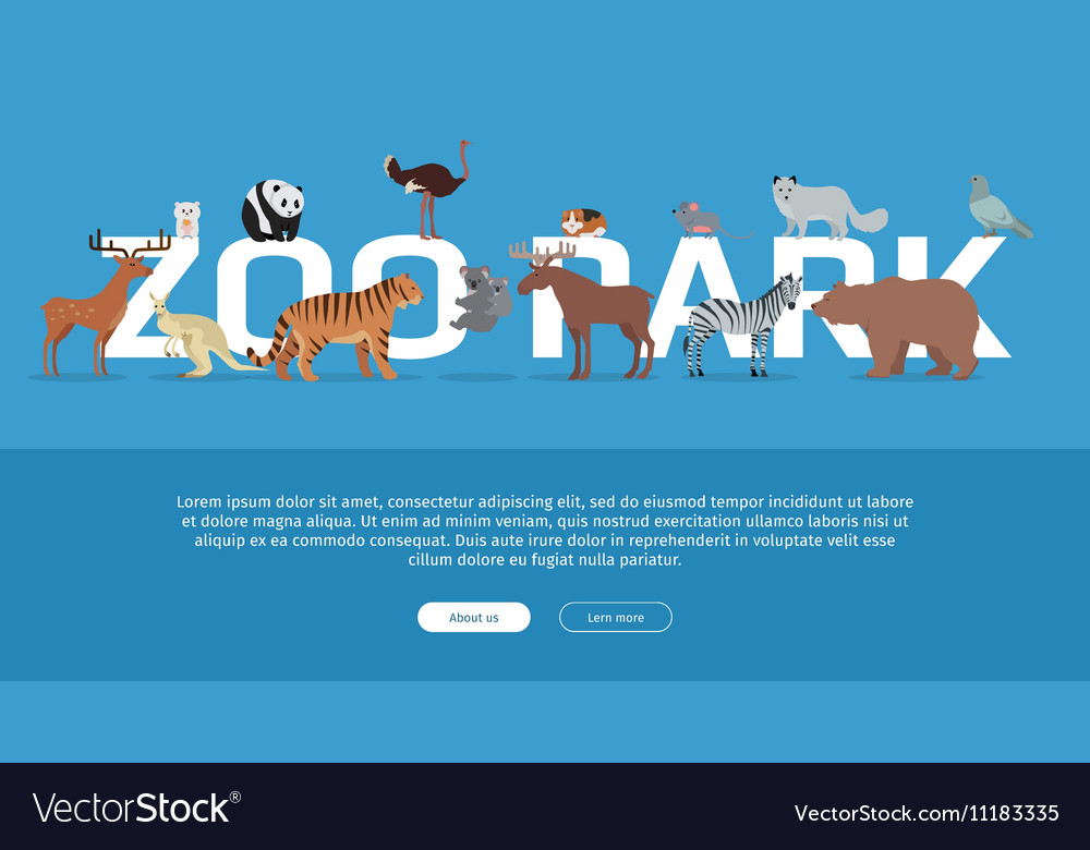 Zoo Park Banner Website Template