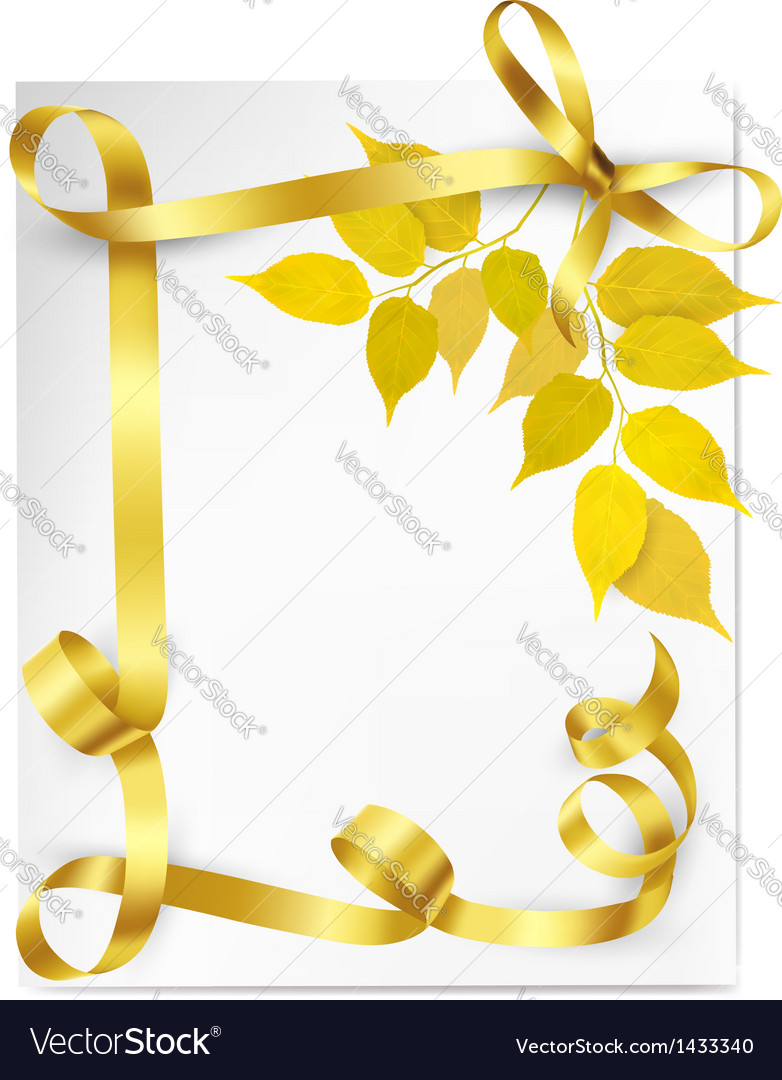 Autumn background with yellow leaves and gold