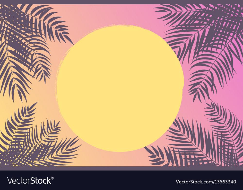 Beautifil palm tree leaf silhouette backgroun