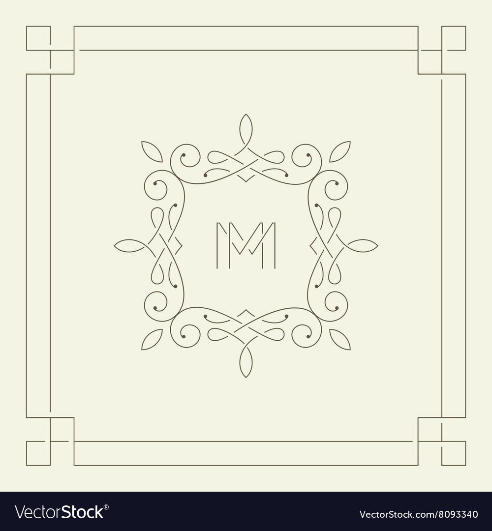 M monogram Frame template