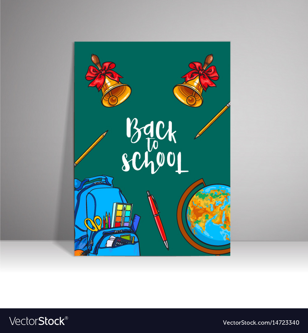 Poster with the inscription welcome to the school vector image