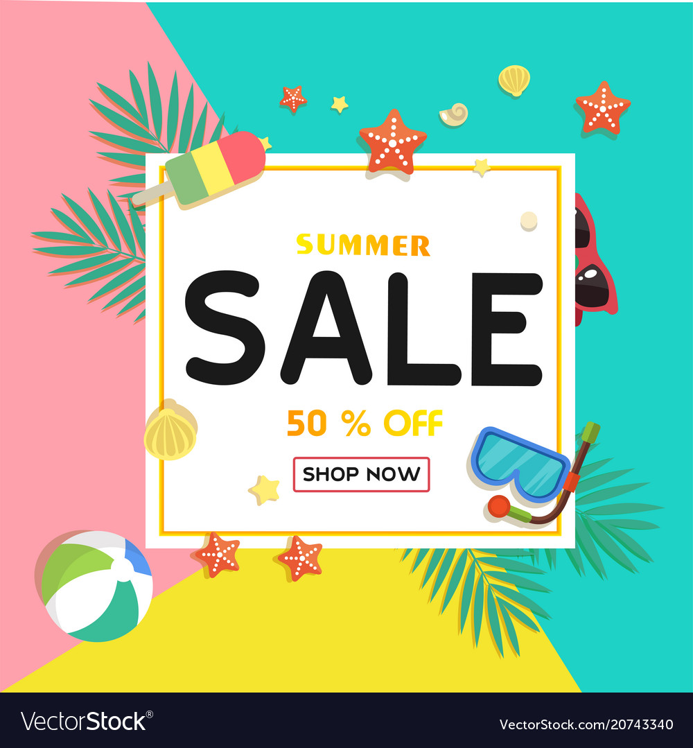 199fa39a838 Summer sale 50 off shop now ice cream starfish be Vector Image