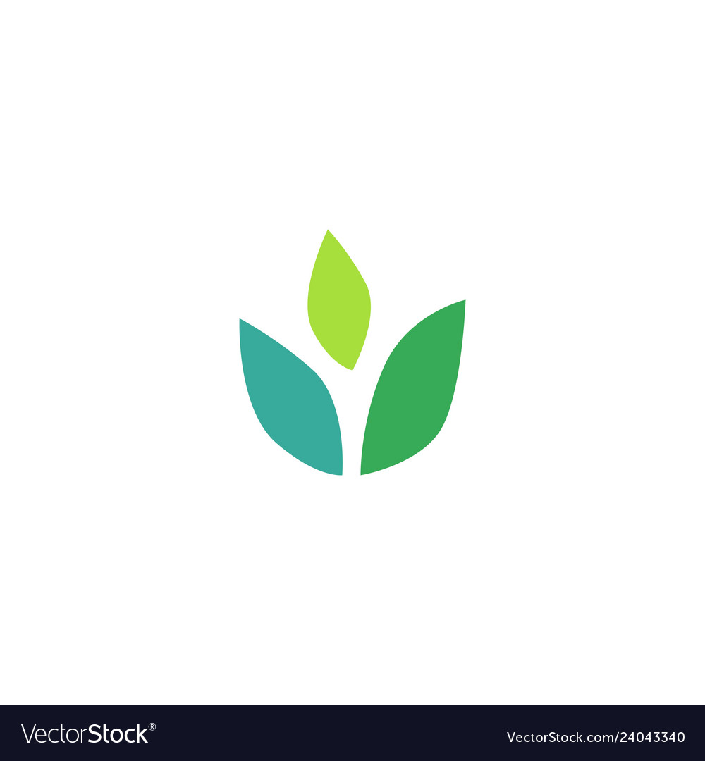 Three leaves leaf logo icon design inspiration