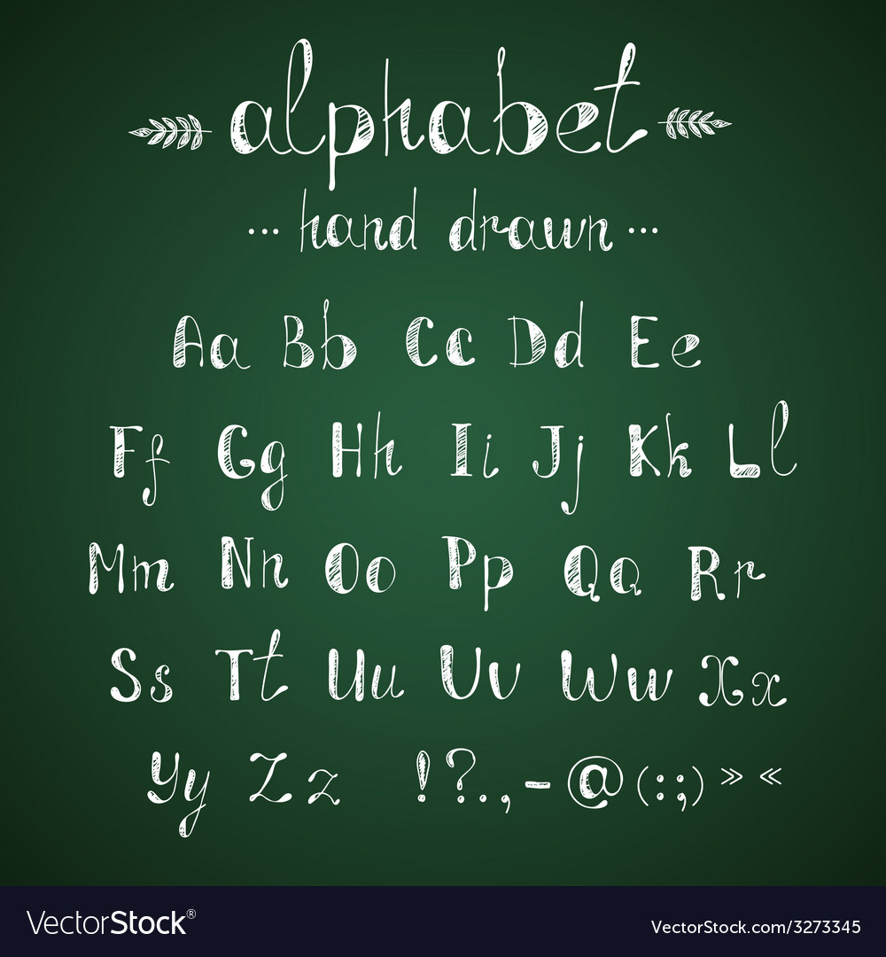 Alphabet and punctuation chalkboard
