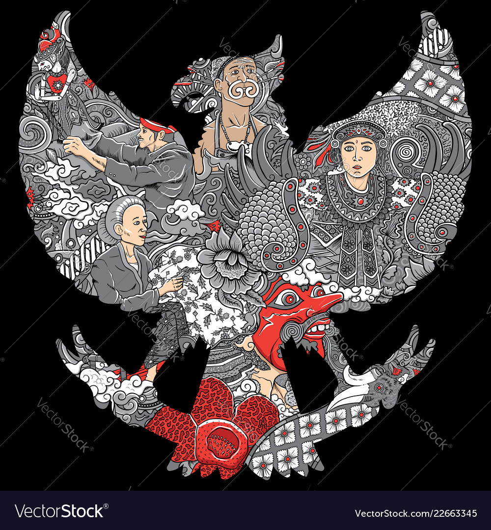 Garuda Indonesian Vector Images 91