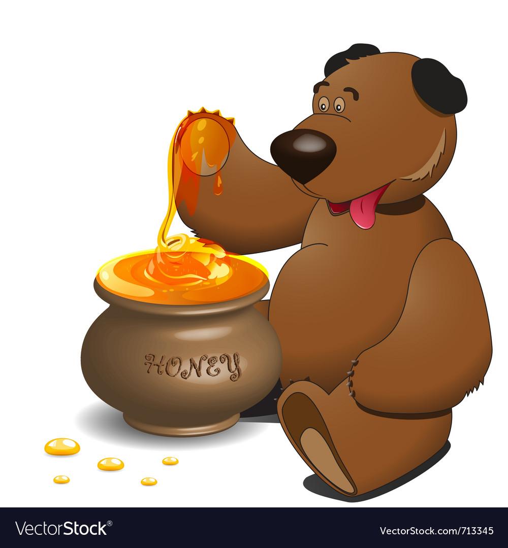 Медведь и мед картинки