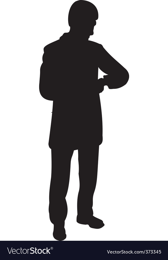 businessman silhouette royalty free vector image