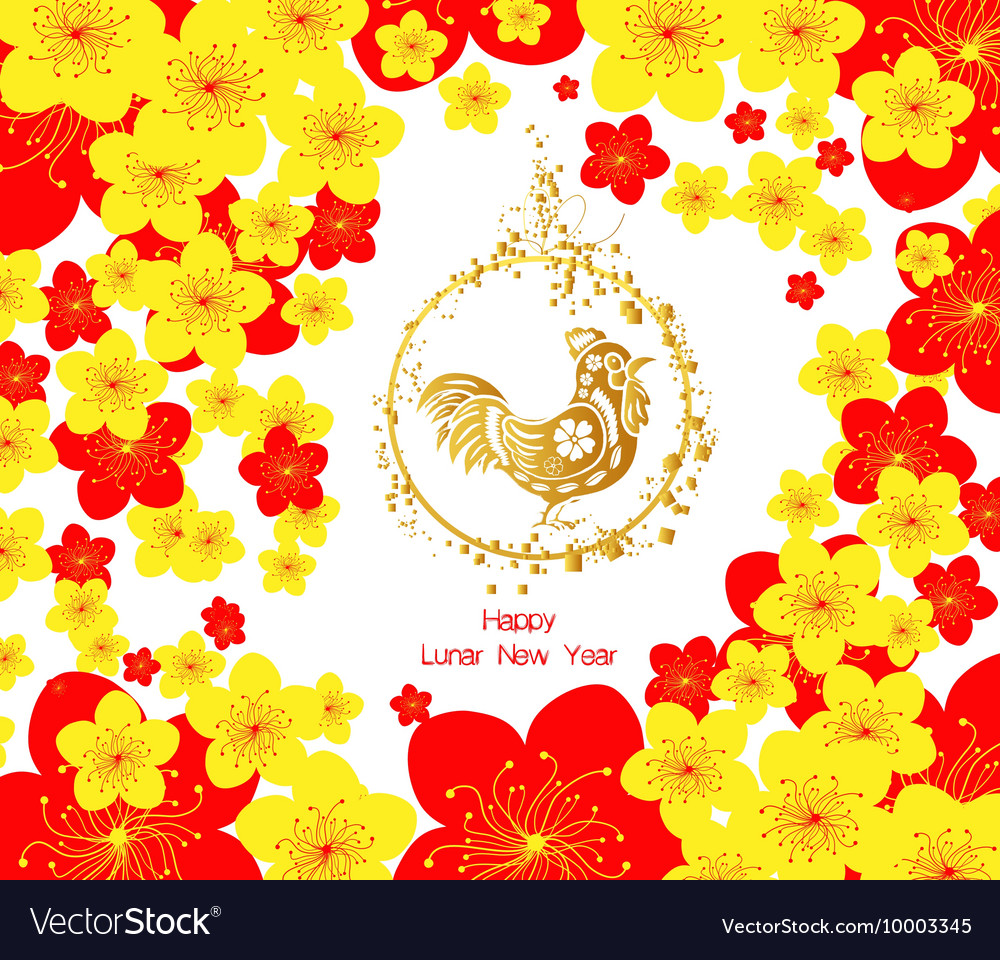 chinese new year template background vector image