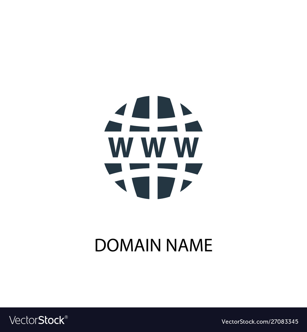 Domain name icon simple element