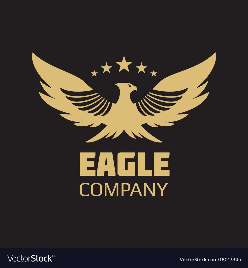 gold heraldic eagle logo design royalty free vector image