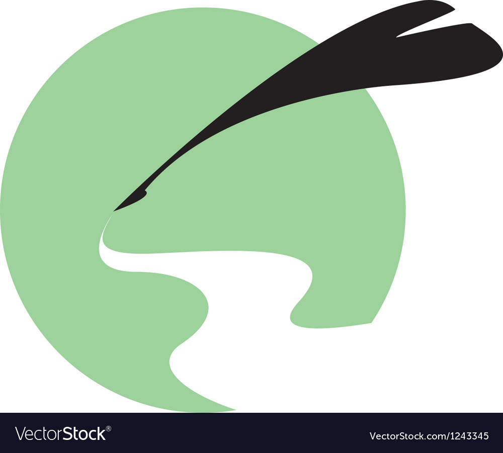 Quill writing background vector image