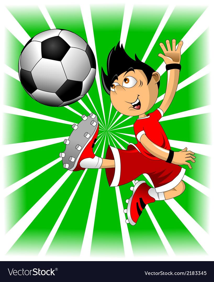 Soccer players cartoon vector image