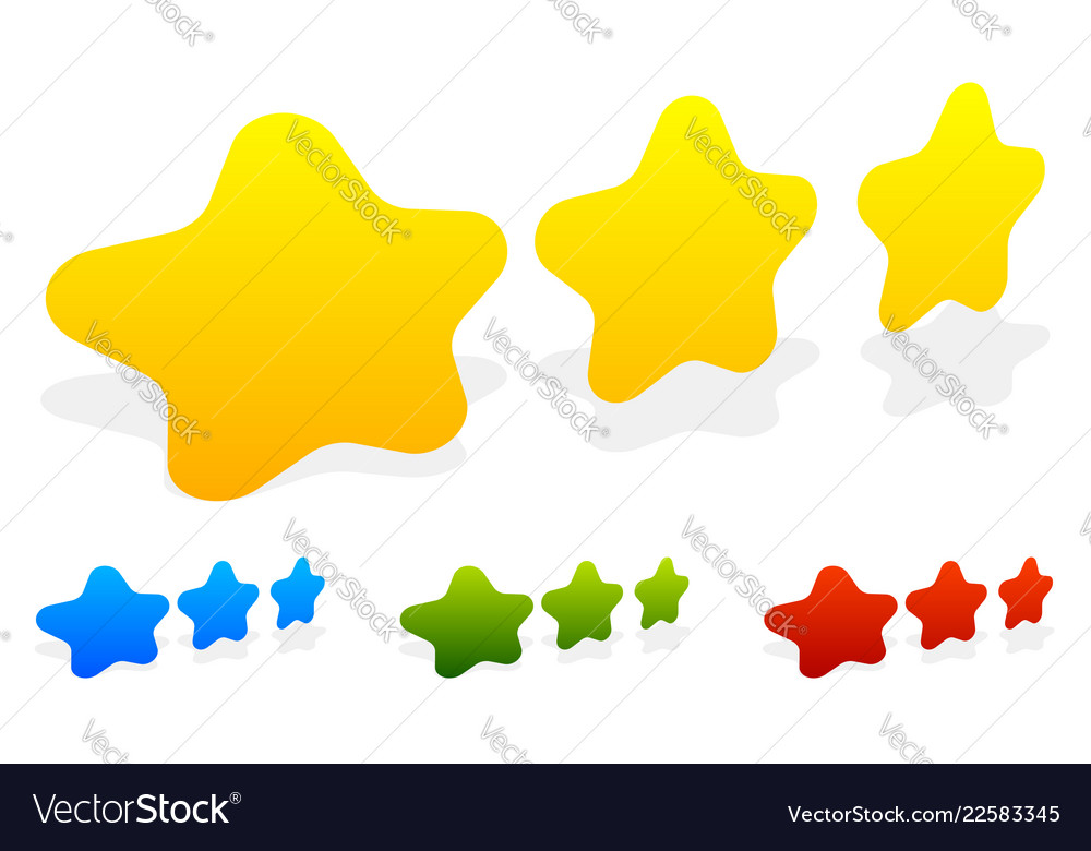 Star star rating to use as quality rating reward vector image on VectorStock