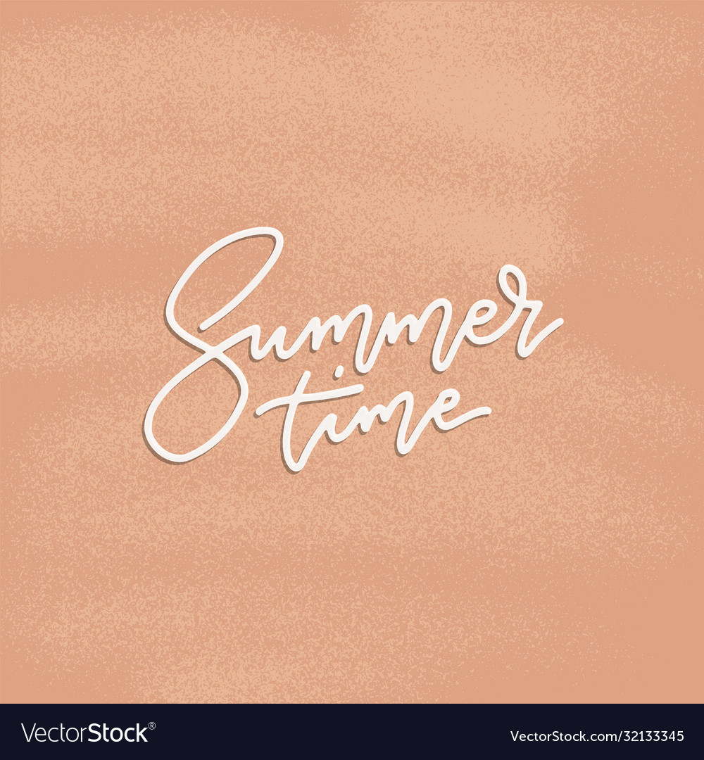 Summer time poster flyer with lettering