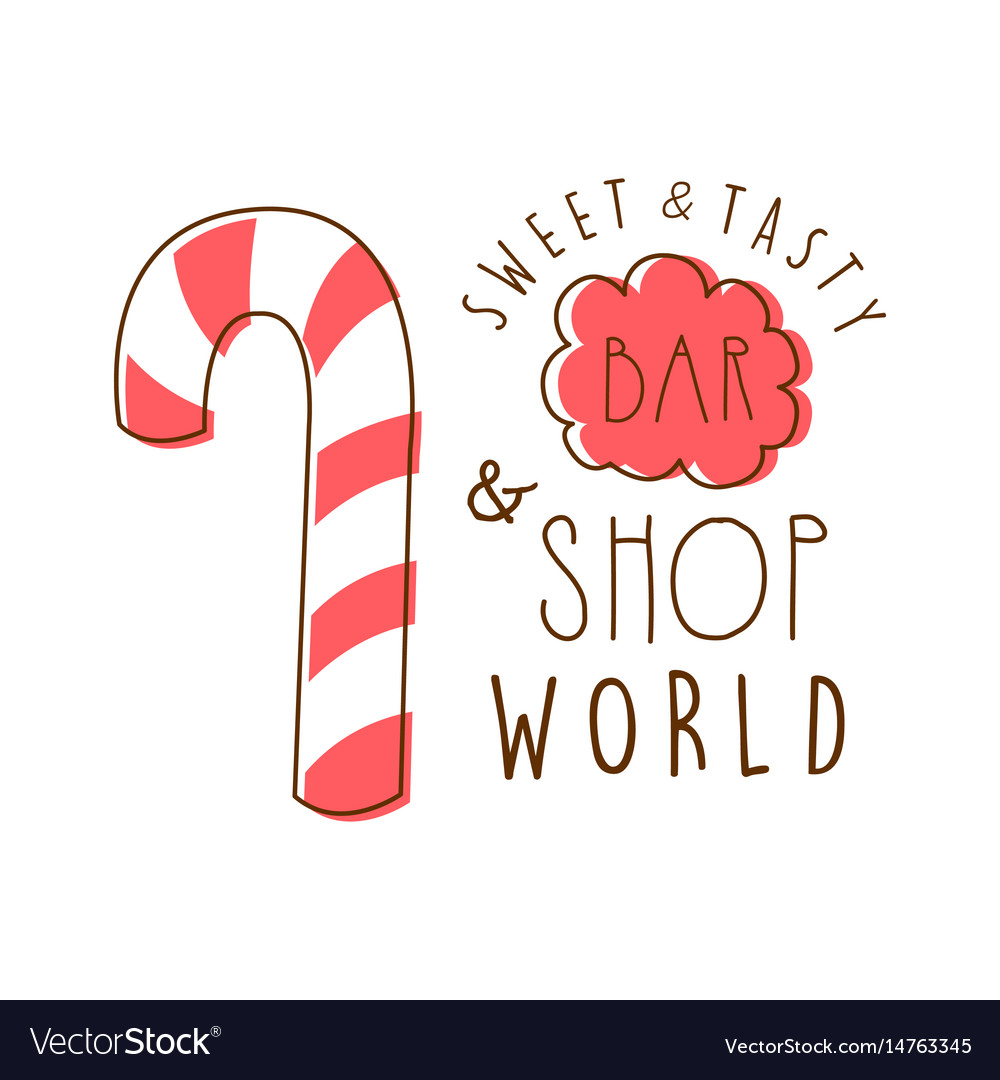 Sweet and tasty shop world logo colorful hand