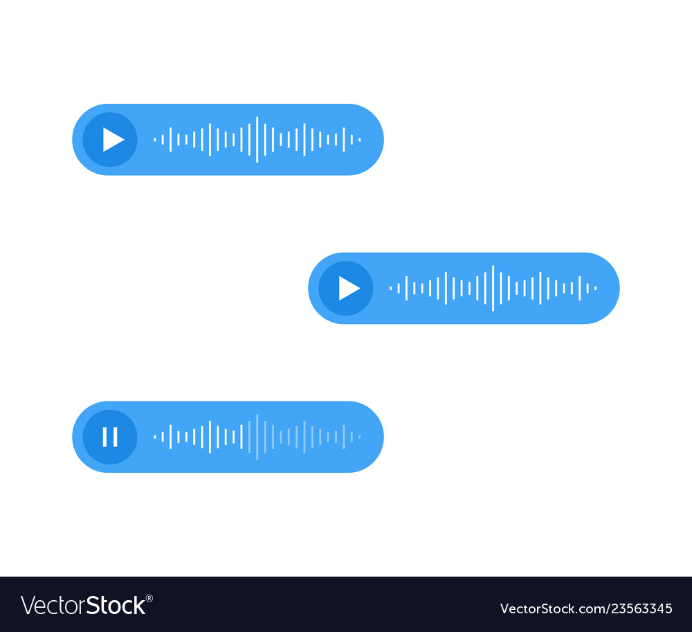 Voice messages icon event notification
