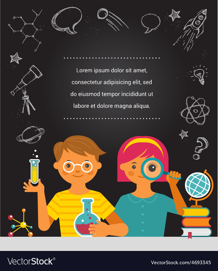 Young Scientist Education Research And School Vector Image