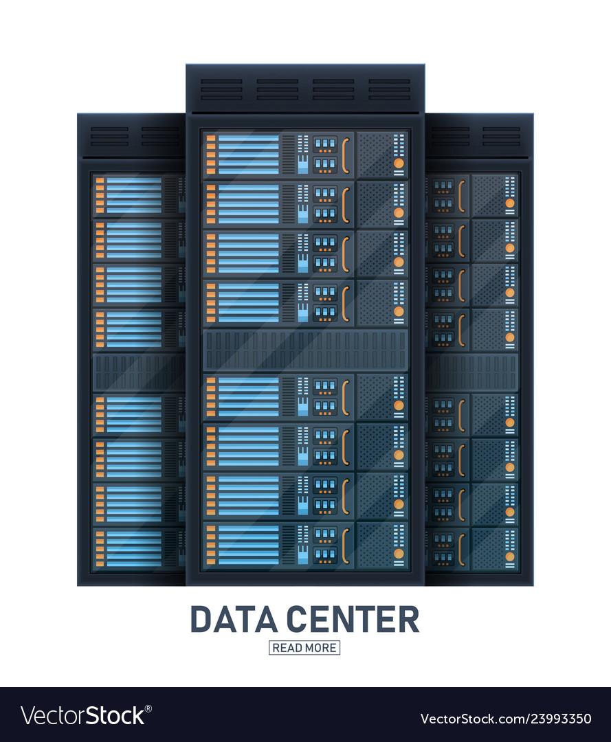 Creative of server rack room